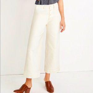 Emmett Wide-Leg Crop Pants Button-Front edition
